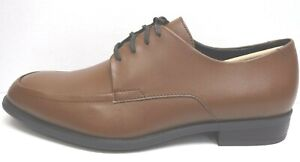 Calvin Klein Size 11.5 Brown Leather Oxfords New Mens Shoes