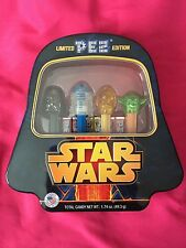 Crystal Heads Limited Edition Star Wars Pez Set in Tin Sealed  - NEW! Fast Ship!