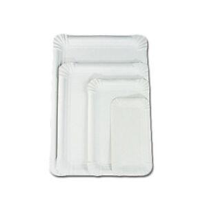 1.500 Pappteller 13x20cm, weiß Einwegteller
