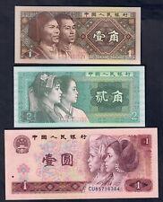 CINA CHINA Chine 3 banconote UNC fds  LOTTO 007