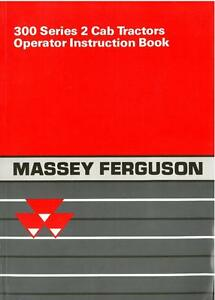 MASSEY FERGUSON TRACTOR 342 352 362 372 382 OPERATORS MANUAL