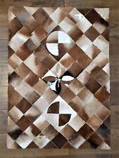 Cowhide Patchwork rug, Animal Skin Leather Rug Tapis de travail en peau de vache