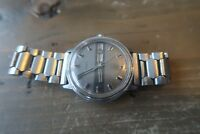Vintage Timex Mechanical Day Date Silver Watch