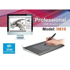 "Huion H610 10"" x 6.3"" USB Art Graphics Drawing Tablet Pad + Cordless Pen Hotkey"