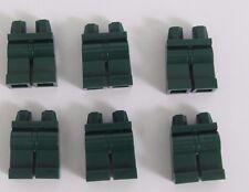 Lego 6  Leg  Legs Lower Parts For Minifigure Figure  Dark Earth Green
