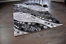 Hochwertiger Design Teppich TF-8 Grau Schwarz 160 x 230