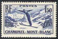 France 1937 Chamonix-Mont Blanc/Sports/Skiing/Skier/Games/Animation 1v (n42999)