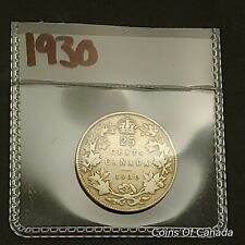 1930 Canada Silver 25 Cents Coin - Sealed In Acid-Free Package #coinsofcanada