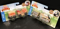 Set of 2 - Thomas & Friends SPENCER & FLYNN Wooden Railway Cars / NEW