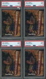 Investor Lot Of (4) 1997 Topps Finest #262 Kobe Bryant Lakers HOF PSA 9 MINT