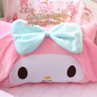 My Melody Pink Bowknot Plush Cartoon Single Pillowcase Soft Pillow Core Gift
