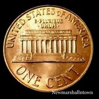 1992 D Lincoln Memorial Penny ~ Uncirculated Cent from Bank Roll
