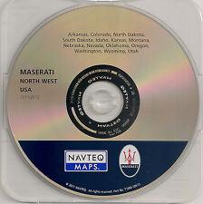 2004-2012 Maserati Quattroporte Navigation CD Cover North West Map 2012 Update