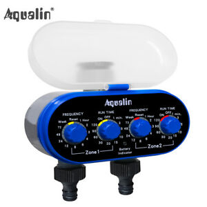 Ball Valve Water Tap Timer Two Outlet Electronic Garden Irrigation Controller