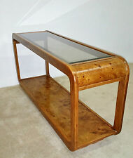 Burl Wood Sofa Console Table-Baughman-Springer-Evans *(ASK FOR SHIPPING QUOTE)*