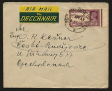 INDIA 1949 Secunderabad to CSR Airmail via Deccanair Cover, KGVI 14a