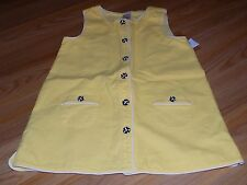Girls Size 9 Gymboree Bee Chic Yellow Tunic Button Up Top Black White Buttons