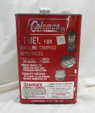 VINTAGE COLEMAN 1 GALLON FUEL GAS CAN FOR STOVES LANTERNS & HEATERS