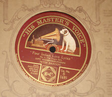 "1920s UK 10"" 78 rpm HMV B1685  PETER DAWSON - FOUR INDIAN LOVE LYRICS"