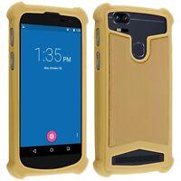 """Coque antichocs  universel en silicone beige/Or pour smartphone de 4,9"""" à 5,3"""""""
