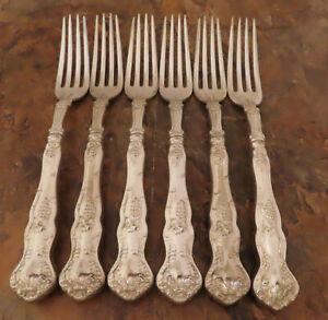 IS Vintage Grapes 6 Dinner Forks 1847 Rogers Vintage Silverplate Flatware Lot F