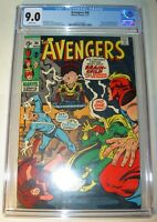 Avengers #86 CGC 9.0, VF/NM,White pages,1971, Brain-Child origin & 1st app.