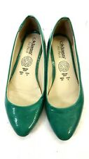 CKLASS WOMEN'S GREEN FAUX PATENT LEATHER FLATS SHOES SIZE 6M US