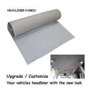 3Mx1.5M Light Gray Headliners Fabric Upholstery Renovate Auto Roof Trunk Lining