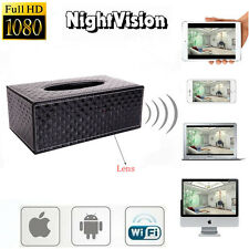 Wireless 1080P HD Tissue Box Hidden Video Camera /w Motion DVR Digital Camcorder