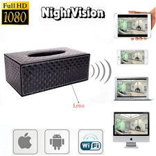 Wireless 1080P HD Tissue Box Hidden Video Camera /w Motion DVR Digital Camcorder