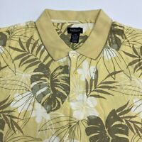 Van Heusen Polo Shirt Men's Size 2XL XXL Short Sleeve Floral Print Cotton Blend