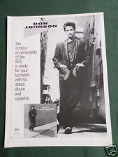 DON JOHNSON - MAGAZINE CLIPPING / CUTTING- 1 PAGE ADVERT