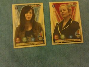 Two Doctor Who Alien Armies trading cards.Panini 2004.