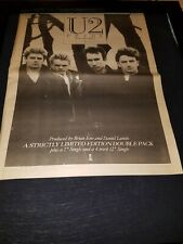 U2 Pride In The Name Of Love Rare Original Uk Promo Poster Ad Framed!