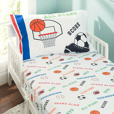 Everyday Kids 2 piece Toddler Bedding Set - Varsity Sports