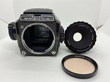 【EXC+4】 ZENZA BRONICA S2 Black Late Model w/ Nikkor P.C 75mm f2.8 Lens JAPAN 953