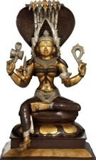 "Fine Statue Mariamman Durga Avatar Kali Mother Jai God 19""Real Brass Hindu 13 KG"
