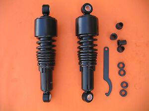 OP10502B Pair Rear Adjustable Shock Absorbers Compatible with Harley Sportster 883 04-08 1200 Custom 04-12