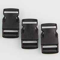 10 pieces/lot  Plastic Black Strap Webbing Side Release Buckle  1 inch
