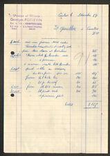 """CONTRES (41) PEINTURE / VITRERIE / PAPIERS PEINTS """"Georges PORTEVIN"""" en 1954"""