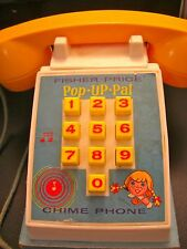 "GREAT  VINTAGE   FISHER PRICE   "" POP - UP - PAL ""    CHIME  PHONE    FROM 1968"