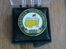 2002 MASTERS GOLF AUGUSTA NATIONAL BALL MARKER PGA TIGER WOODS RARE