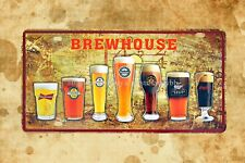 US Seller- beer brewhouse cafe bar pub metal tin sign contemporary art