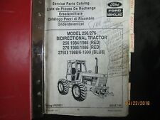 FORD NEW HOLLAND MODEL 256 / 276 Bidirectional Tractor Parts Manual Catalog Book