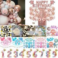 Party Balloons Wedding Happy Birthday Baby Set Bunting Foil Latex Balloon Decor