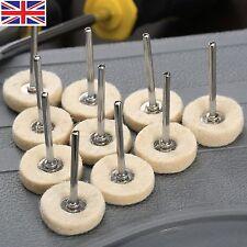 10pcs Polishing Buffing Wool Cotton Wheel Brush for Dremel Rotary Tool Accessory