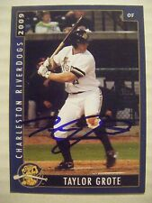 TAYLOR GROTE signed YANKEES 2009 CHARLESTON RIVERDOGS baseball card AUTO Rookie