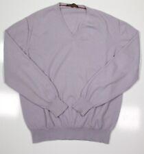 Loro Piana Violet Clair 100% Cachemire Pull Col V Homme Ue 54 - US 44 / L