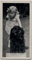 Cocker Spaniel Dogs With Young Child 1930s  Ad Trade Card