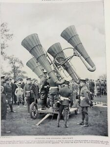 ANTIQUE PRINT 1926 TELEPHONE LISTENING FOR INVADING AIR CRAFT WAR PHOTO